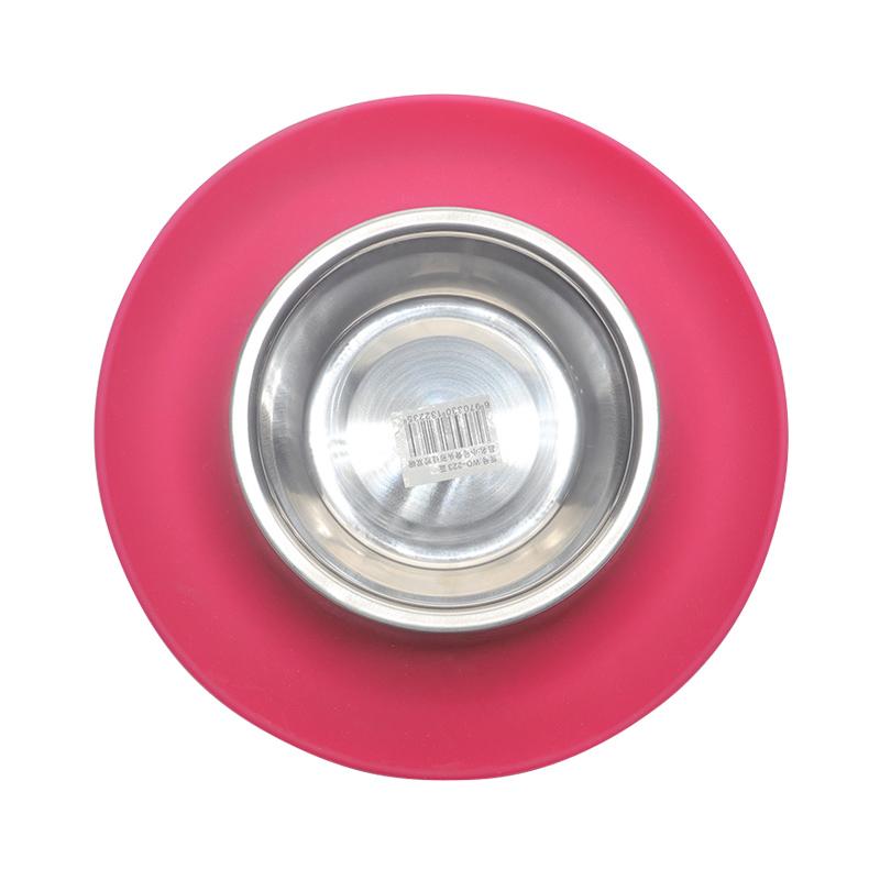 环保万博客户端碗红绿两色,可供中小型宠物使用