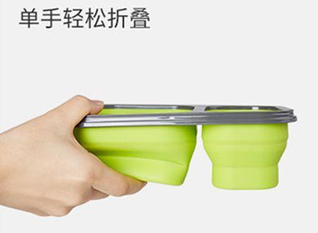 饭盒折叠方便